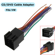 NEW CAR STEREO CD/DVD PLAYER WIRING HARNESS CABLE WIRE ADAPTER PLUG FOR VW RADIO