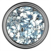Light Blue Oval Rhinestone Gems Flat Back Face Art Nail Art Scrapbook Phone 3mm