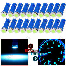 100 x T5 1SMD 5050 12V Car LED mix white/red/green/pink/ice blue Dashboard Bulbs