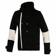 adidas ORIGINALS DOUBLE BREASTED HOODED JACKET BLACK MEN'S HOODED RARE DEADSTOCK