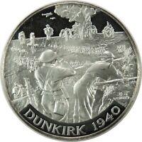 (1940-WWII)  DUNKIRK .999 SILVER MEDAL BRITANNIA COMMEMORATIVE SOCIETY 090720
