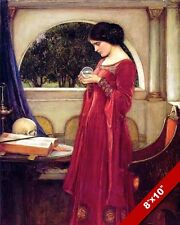 MERLIN KING ARTHUR SORCERESS MORGANA LE FAY OIL PAINTING ART REAL CANVAS PRINT