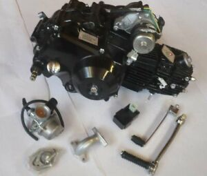 HMParts Pitbike Monkey 4-Gang Motor Set 110ccm halbautom. E-Start oben & Kickst.