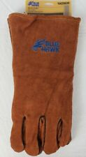 Leather Welding Gloves Heat Resistant Cotton Lining Welder Fireplace Wood Stove
