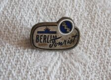 DDR GERMANY  BERLIN TOURIST   LOGO PIN BADGE 1960s