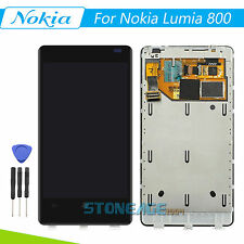 For Nokia Lumia 800 LCD Display Touch Digitizer Screen Assembly with Frame+Tools