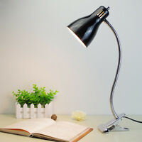 Clip-on LED Desk Lamp Table Home Study Reading Eyes Protect Bedside Light