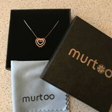 Murtoo Rose Gold Heart Necklace New In Box