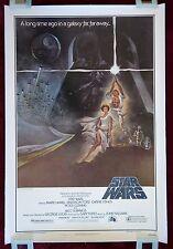STAR WARS * ORIGINAL MOVIE POSTER STYLE A 1SH 1977 LINEN VINTAGE DARTH VADER