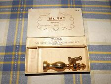 2 Vintage Mura Wax Seals Fancy Rose British Made With Box