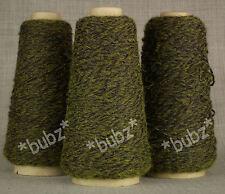 Trois Cônes Doux 4 Plis Laine Bleu Vert Twist 300 g Six Boules Main Tricot 34