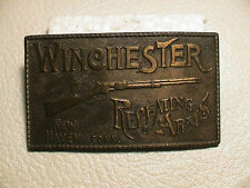 WINCHESTER REPEATING ARMS NEW HAVEN CONN. RIFLE GUN MENS BRASS BELT BUCKLE #2