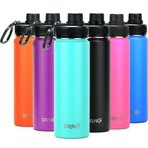 DRINCO Sport Water Bottle Hydro Vacuum Insulated Stainless Steel 22oz 32oz Flask