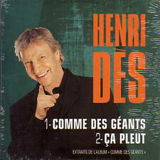 CD single Henri Dès	Comme des geants Promo 2 Tracks CARD SLEEVE Eurovision Star