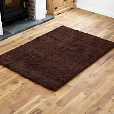 NEW THICK 5CM PILE PREMIUM QUALITY NON SHEDDING SHAGGY RUGS, RUNNER & ROUND RUG