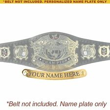 Personalized Nameplate for Adult WWE Undisputed V2 Championship Replica Belt