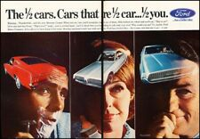 1967 Ford Mustang Mercury Cougar Vintage Advertisement Print Art Car Ad J500