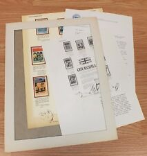 Authentic Churchill World Of Stamps Collectible Series Sheet W/ COA Only *READ*