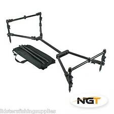 New NGT Nomadic Rod Pod Carp Fishing Fully Adjustable Compact Black Deluxe Case