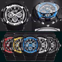 Fashion Men's Boy LCD Digital Stopwatch Date Rubber Sport Waterproof Wrist Watch