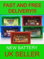 Pokemon Emerald, Ruby, Sapphire, Leaf Green, Fire Red for GBA Gameboy