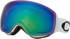New Oakley Flight Deck Xm Snow Goggles White with Prizm Jade Lens