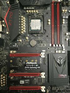 Intel Core i7-6700K 4.0 GHz Mounted + ASRock Fatal1ty Z170 Gaming K6 Motherboard