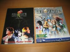 Final Fantasy VIII 8 IX 9 Playstation Ps1 Strategy Guide Include Poster