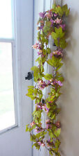2 Bunches Autumn Artificial Rose flower Vines Hangings