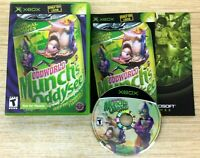Oddworld: Munch's Oddysee (Microsoft Xbox) COMPLETE Not For Resale RARE