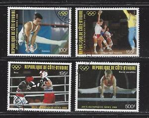 IVORY COAST - C115-C118 & C119 S/S - USED - 1988 - SEOUL OLYMPICS