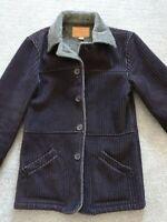 Men's GUESS Brown Corduroy Jacket Coat Berber Sherpa Fleece Size Small S EUC