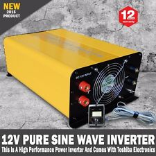 Pure Sine Wave Power Inverter 3000W-6000W Max 12V-240V Remote Control & USB Plug