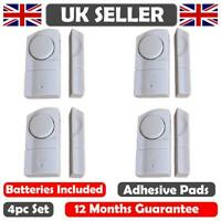 4 WINDOW & DOOR BURGLAR INTRUDER ALARMS ALARM WIRELESS SENSOR