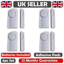 4 WINDOW & DOOR BURGLAR INTRUDER ALARMS WIRELESS SENSOR