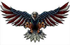 American Eagle with Usa Flag Wings Steel Sign 21x12 Patriotic Art Flyland New