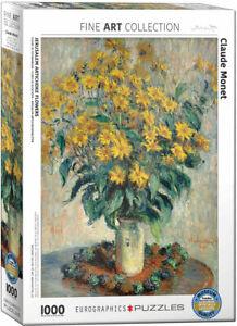 Jerusalem Artichoke Flowers by Monet 1000 piece jigsaw puzzle 680mm x 480mm (pz)