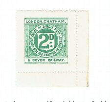 London Chatham & Dover Railway 1891/5 2d green Railway Letter stamp mint