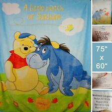 Disney Winnie The Pooh Eeyore 75x60 Fleece Blanket Throw Little Patch Sunshine