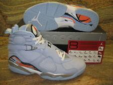 2007 Nike Air Jordan 8 Retro SZ 11.5 Ice Blue Orange Blaze WMNS 13 X 316836-401