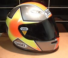 YELLOW TRIANGLE EMERGENCY CONCEPT FACTORY SHOEI HELMET RACE VISOR STICKERS