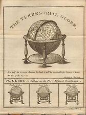 1804 Antiguo Mapa-el globo terrestre