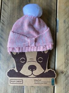 Pup Crew Dog Hat, Pink, Size M/L, New