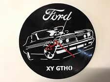 Repurposed Vinyl Record Clocks and Wall Art -  Ford GTHO-1