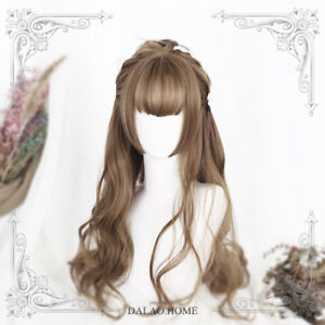 Black&Brown Harajuku Sweet Princess Wig Dolly Lolita Cosplay Curly Hair Daily