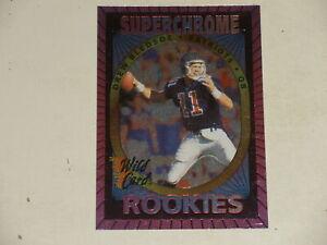 1993 Wildcard Superchrome Drew Bledsoe #34 ROOKIE CARD-Patriots (A)
