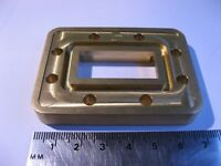 PDR70 Waveguide Flange WR137 European 10mm Thick Brass 7mm Butt Microwave - NOS