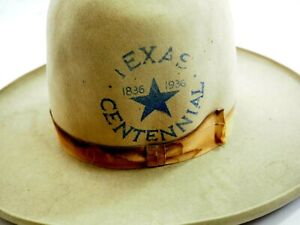 Original Texas Centennial Blue Star Rodeo Cowboy Hat 1836-1936