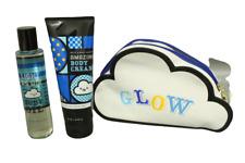 Bath & Body Works Electric Blue Sky Body Cream, Light As Air Oil, Glow Bag, Gift