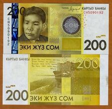 Kyrgyzstan, 200 Som, 2016 (2017), P-New, OVD strip, UNC